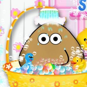 pou baby bathing game free html5 online at abcya3. Black Bedroom Furniture Sets. Home Design Ideas