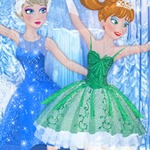 Elsa And Anna Ballet Dancer