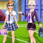 Frozen Sisters Back To School