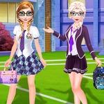 Frozen Sisters Back To School