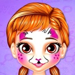 Little Princess Anna Face Painting