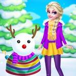 Princess Elsa And Snowman