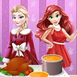 Princesses Cooking Christmas Dinner - The talented chefs