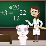 Tom And Angela School Quiz - A fun math game at frivgame